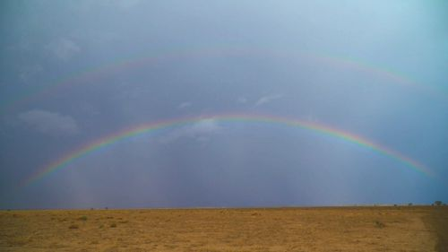 A rainbow over Coonamble, NSW.