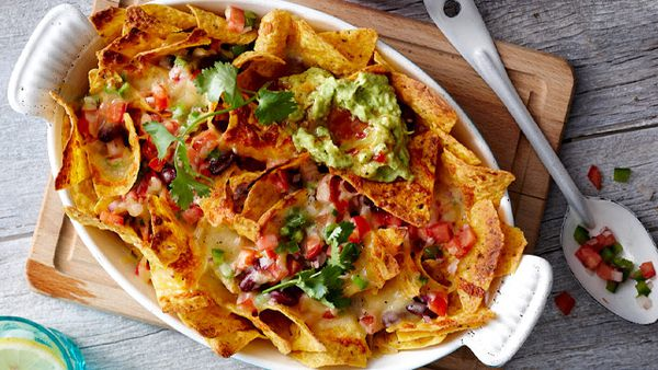 Quick grilled nachos