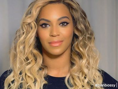 Beyonce in Ban Bossy campaign.