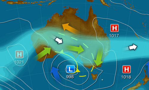 Australian weather August 13