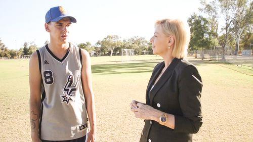 Voller with reporter Liz Hayes. (60 Minutes)