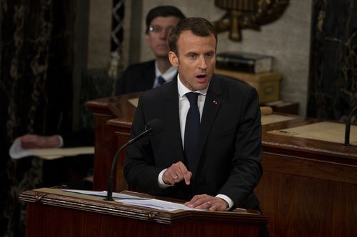 As Trump weighs pulling out of the 2015 Iran accord, Macron made clear that France will not follow his lead.