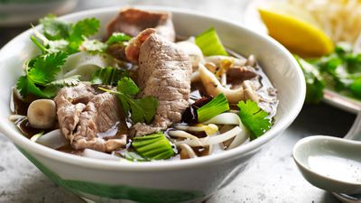 "Recipe: <a href=""http://kitchen.nine.com.au/2016/11/18/08/43/easy-vietnamese-beef-noodle-soup-pho"" target=""_top"">Easy Vietnamese beef noodle soup (pho)</a>"