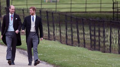 Prince Harry and Prince William arrived at the church together