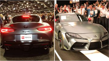 The A90 Toyota Supra sold at auction for AU$2.93 million with all proceeds going to charity.