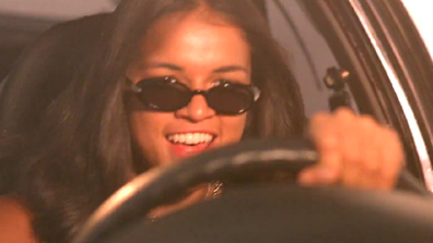 Michelle Rodriguez in the movie Fast and the Furious.