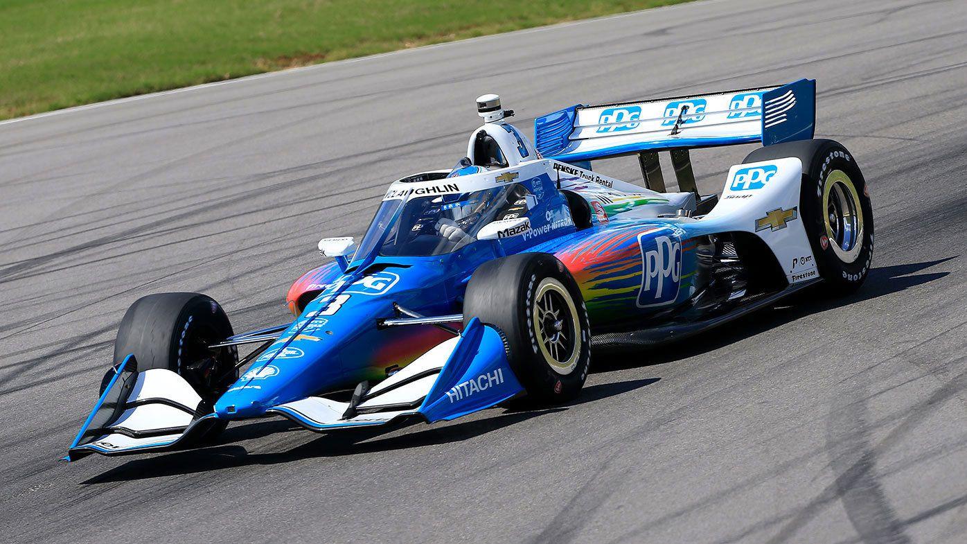 Scott McLaughlin in action for Penske at Barber Motorsports Park.