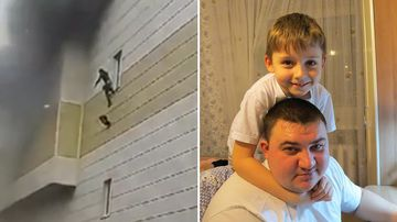 Horrifying moment 11-year-old jumps from burning mall window