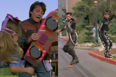 First things first, those groovy pink floating decks from <i>Back to the Future II</i> are still a product of our wildest '80s dreams.<br/><br/>Although <i>Back to the Future </i> star Christopher Lloyd and pro-skater Tony Hawk recently tried to convince us the technology was real, OBVIOUSLY it was a hoax. The floorboards would have to be made of magnets, people!<br/><br/>(Images: <i>Back to the Future II</i> / Universal Pictures)