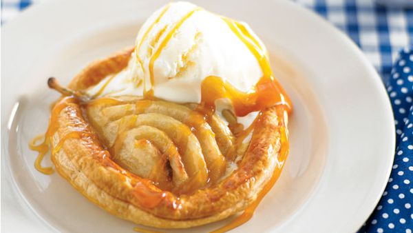 Toffee pear galettes