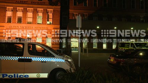 Police were called to Sydney's RPA Hospital last night after a nurse was allegedly stabbed by a patient.