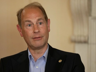 Prince Edward pictured in his CNN interview