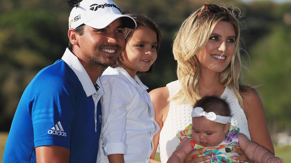 Australian golfer Jason Day and his family. (AFP)