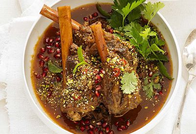 <strong>Lamb shanks with pomegranate</strong>