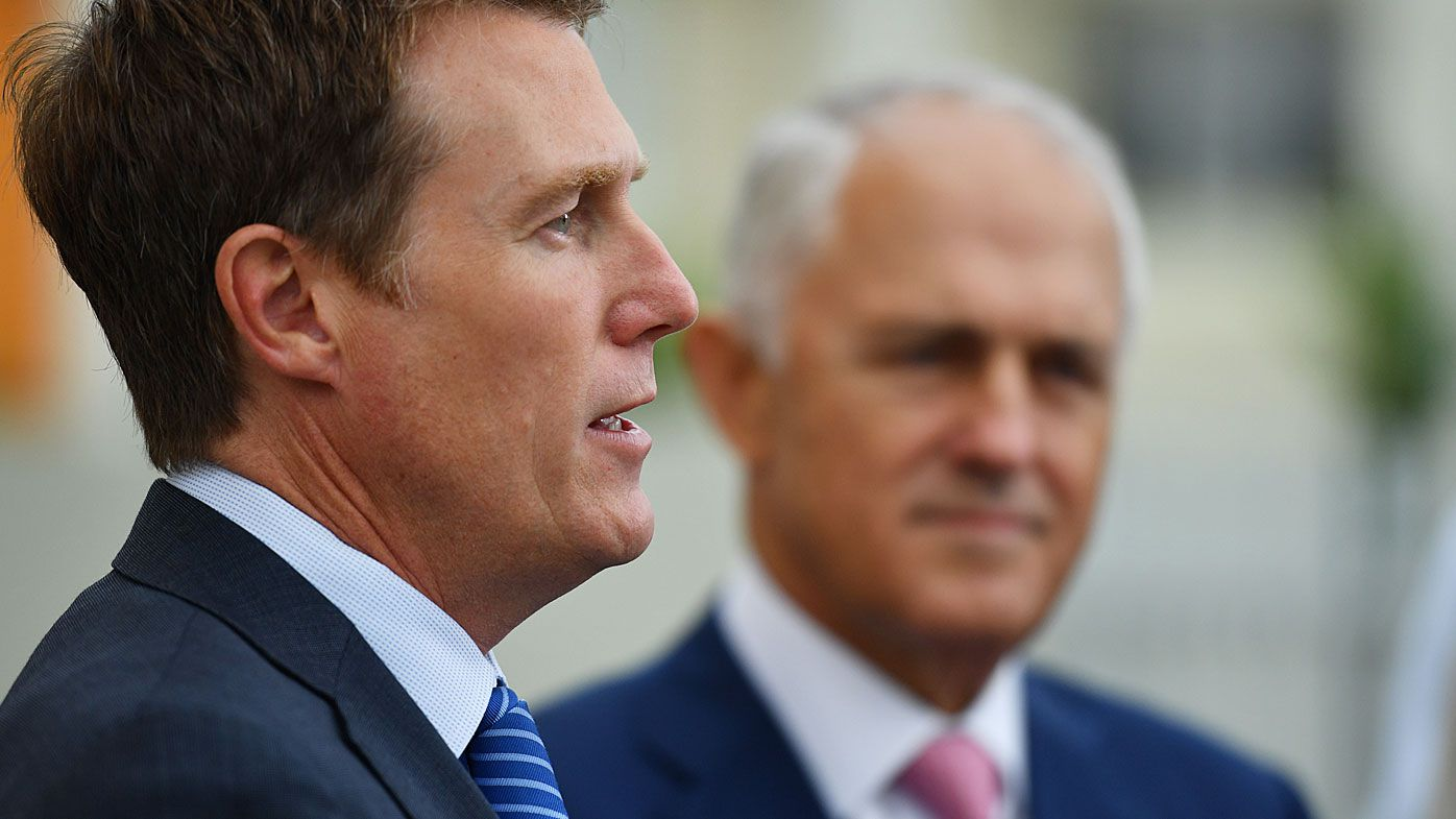 Minister for Social Services Christian Porter and Prime Minister Malcolm Turnbull. (AAP)