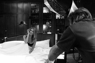 Check out those come hither eyes! With a sultry pose in sexy lingerie, <i>Extra</i> presenter (and Delta Goodrem's BFF) Renee Bargh gets steamy between the sheets... for a high-fash shoot, of course.