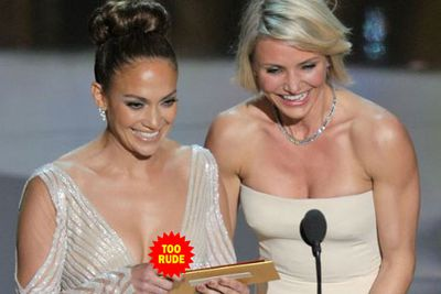Presenting alongside actress Cameron Diaz, JLo's nip slip stole the show at the 2012 Academy Awards.<br/>