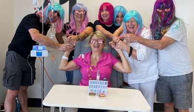 Debbie Pritchard ovarian cancer wig party
