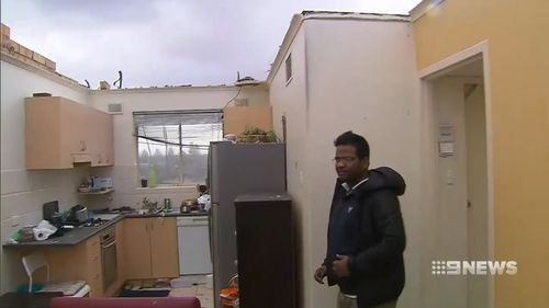 Business owners and residents, like Surinder Kumar, are now counting the cost of damages linked to the wild weather.