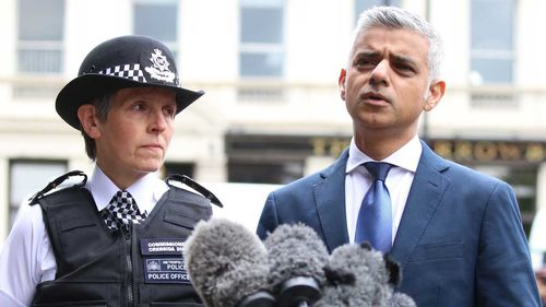 London Mayor Sadiq Khan (right), says it will take more than beefed up policing to reduce knife crime in the city.