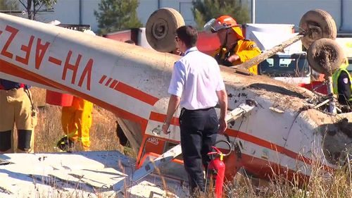 Aviation investigators will examine the wreckage. (9NEWS)