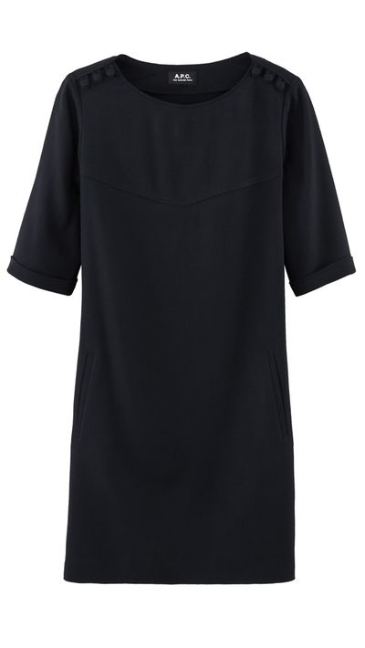 "<p><a href=""http://usonline.apc.fr/"" target=""_blank"">Dress, $495, A.P.C.</a> (available at A.P.C.'s Sydney and Melbourne stores)</p>"