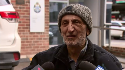 Neil Khallouf was just metres from his home in Brunswick, Inner Melbourne when he was approached by two thugs who beat him almost unconscious.