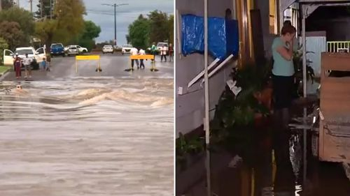 Flooding in Forbes on Monday. (9NEWS)
