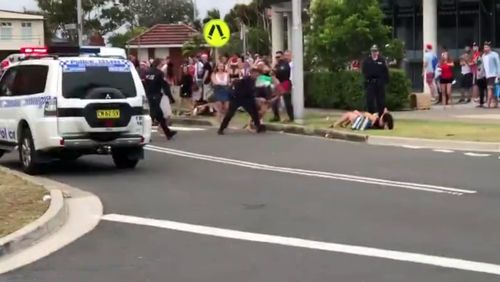 Police officers were accused of going too far. (Image: David Newman/Facebook)