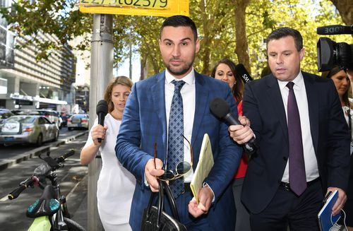 """The controversial property developer was found guilty of engaging in a """"joint criminal enterprise"""" to rig the 2012 council election. (AAP)"""