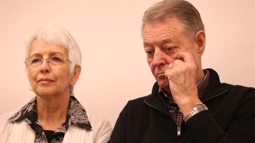 Melissa Cochran's parents Sandra and Dimmon Payne. (AAP)