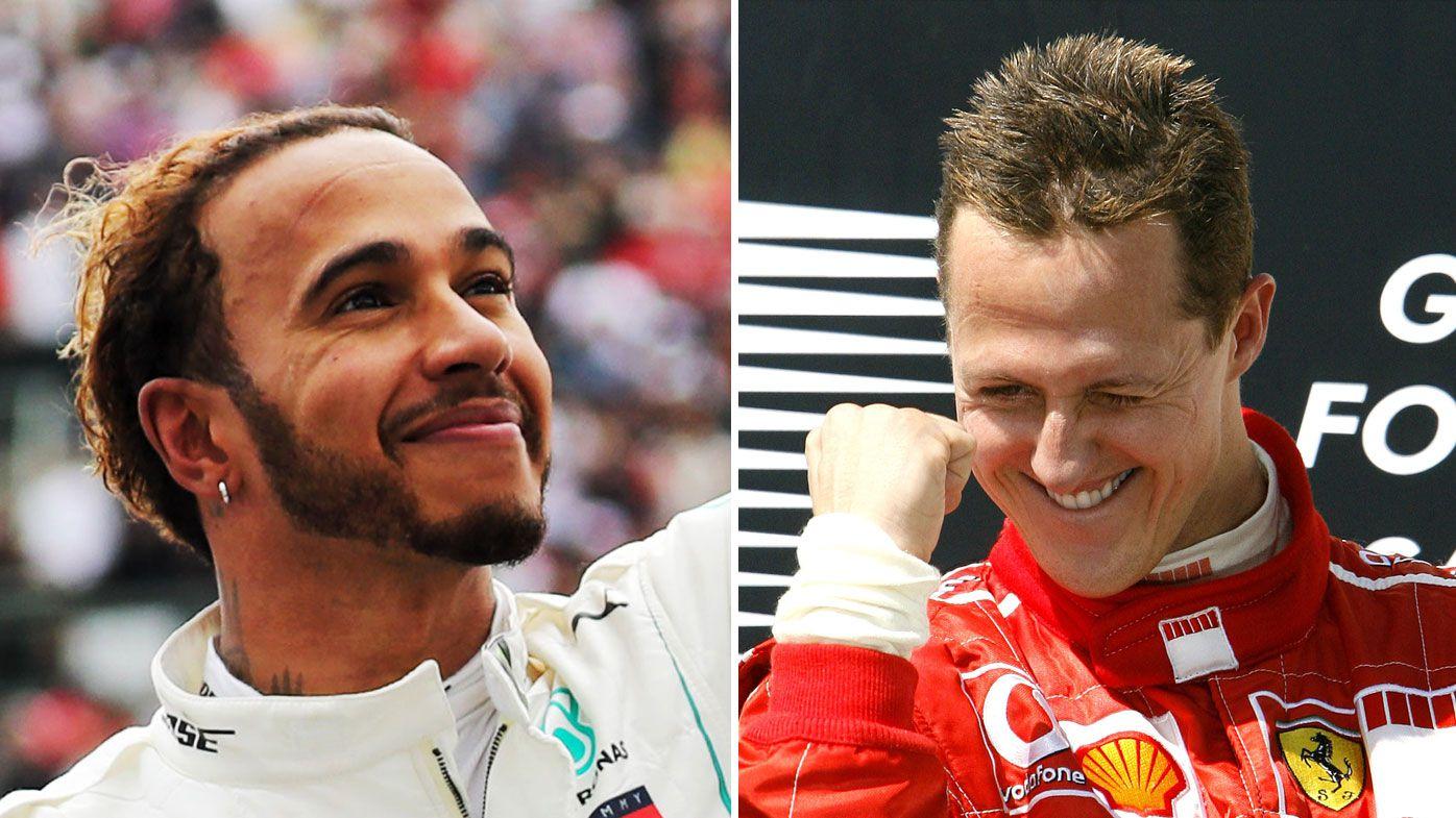 Lewis Hamilton (left) and Michael Schumacher