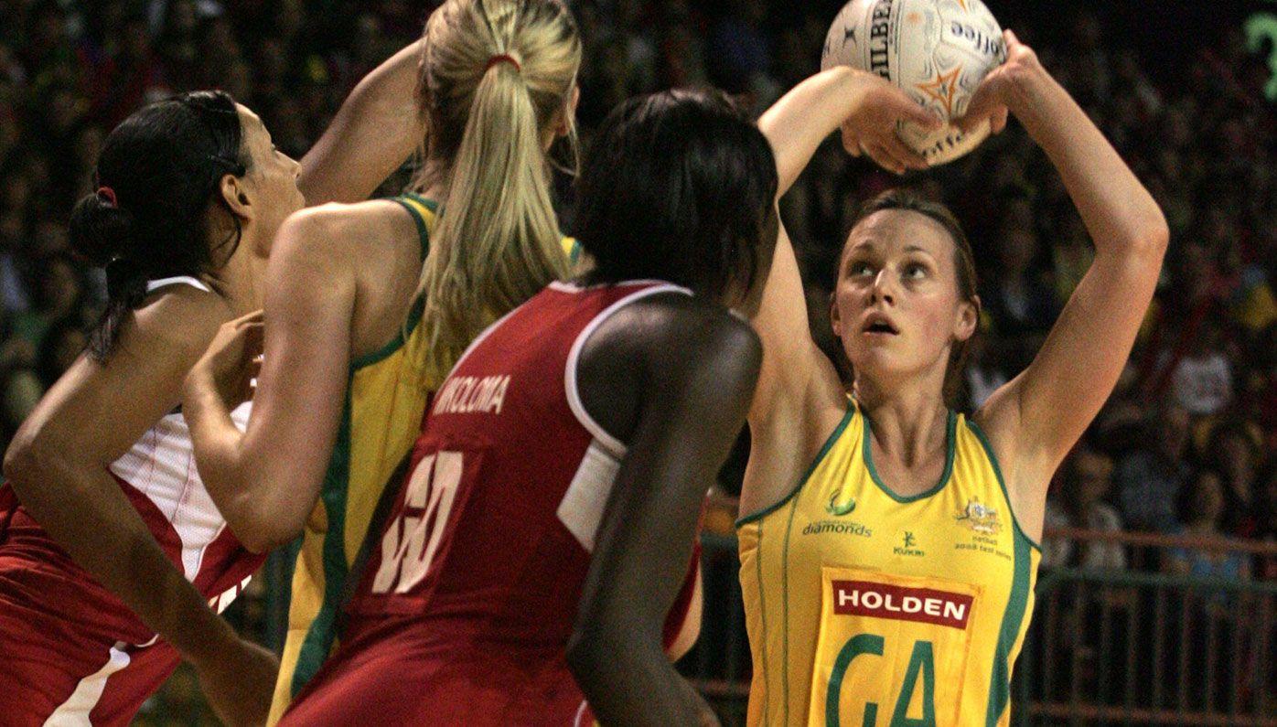 Natalie Medhurst in action for Australia.