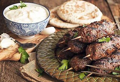"<a href=""http://kitchen.nine.com.au/2016/05/05/12/48/lamb-and-chickpea-koftas-with-yoghurt-dip"" target=""_top"">Lamb and chickpea koftas with yogurt dip<br> <br> </a>"