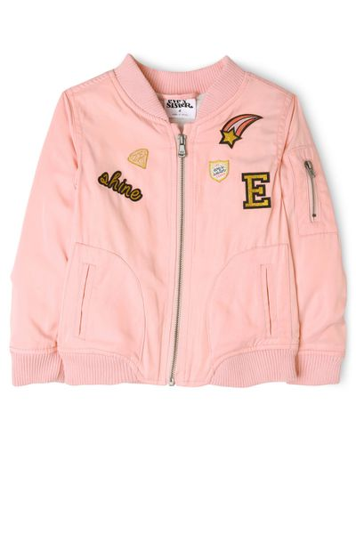"<a href=""https://www.myer.com.au/shop/mystore/kids-toys/little-girls-coats-jackets/eves-sister-saturday-bomber"" target=""_blank"">Eve's Sister Saturday Bomber, $59.95, at Myer.</a>"