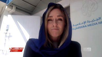 Charlotte Bellis Al Jazeera reporter confronted by Taliban