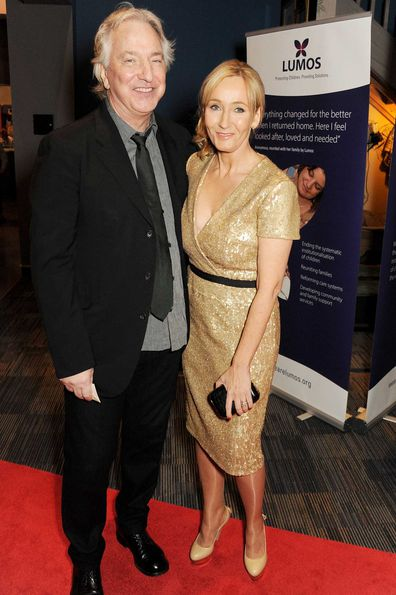 Alan Rickman and J.K. Rowling in 2013.