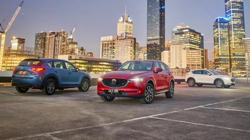 The Mazda CX-5 is the top selling SUV.