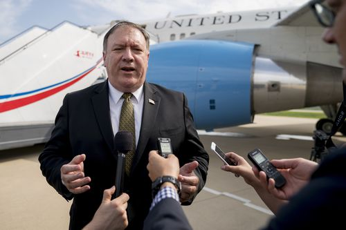 US Secretary of State Mike Pompeo has held meeting with officials in North Korea at the weekend. Picture: AAP