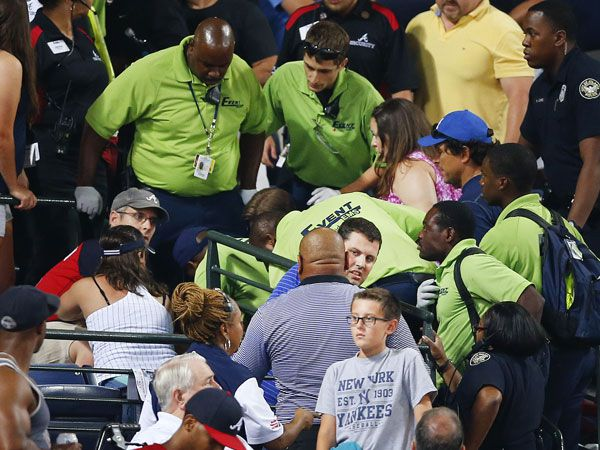 Fan falls to his death at baseball game