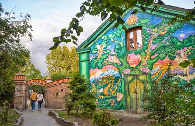 Christiania, Copenhagon stock image