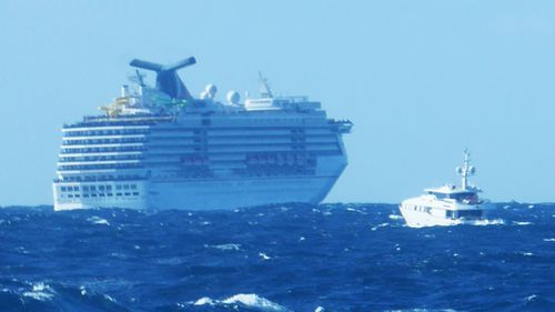 Cruise ship rescues 2 from superyacht