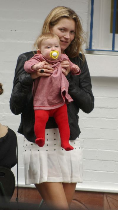 Then: Kate Moss and infant daughter Lila back in 2003 in New York City.