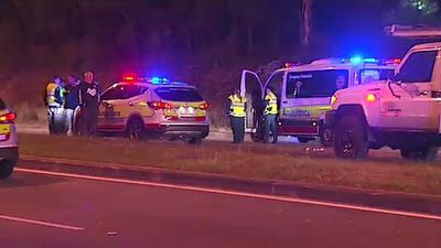 Man killed when car hits embankment