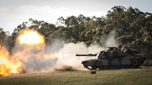 Australian army showing off their firepower at Puckapunyal.