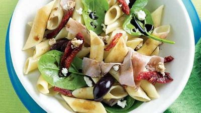 "<a href=""http://kitchen.nine.com.au/2016/05/13/11/02/warm-pasta-salad"" target=""_top"">Warm pasta salad</a> recipe"