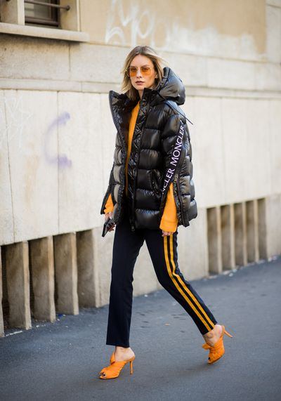 Blogger Lisa Hahnbueck in Moncler, Berlin October 2017