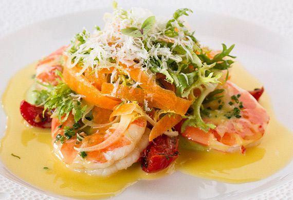 Neil Martin's warm king prawn salad