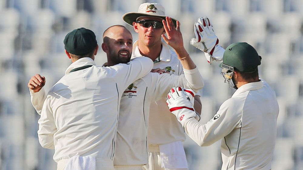 Nathan Lyon in rare company after claiming his 250th Test scalp against Bangladesh