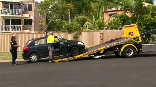 A man who was fatally stabbed overnight's car has been towed for forensic testing by police.